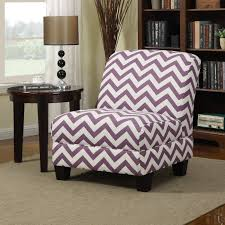 purple accent furniture. Design Purple Accent Chair With Lavish Pattern And Materials White Zig Zag Stripes Soft Fabric Cushion Dark Brown Wood Base Furniture