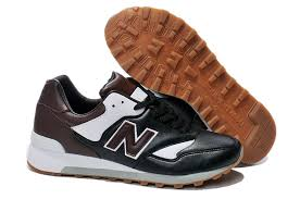 new balance leather shoes. new balance 577 men\u0027s shoes leather upper black / white brown