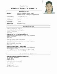 Resume For Job Application Filipino Resume Corner