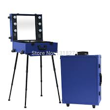 aluminum makeup studio with lights lighting cosmetic makekup trolley train case with stand in cosmetic bags cases from luge bags on aliexpress