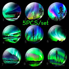 5pcs set 25mm luminous glass