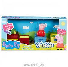 """Игровой набор """"<b>Peppa Pig</b>. Поезд Пеппы - <b>неваляшки</b>"""" с ..."""