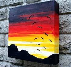easy painting ideas for canvas best acrylic paintings on art es