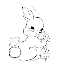 Baby Rabbit Coloring Pages Printable Bunny Rabbit Coloring Pages