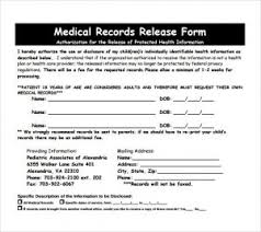 Medical Form In Pdf Release Of Medical Records Form | Template Business