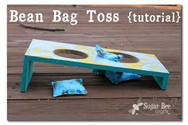 today i want to share a quick how to a bean bag toss tutorial