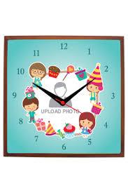 square shaped wall clocks kids
