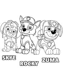 Paw Patrol Colouring Pages Chase Coloring Source Kids