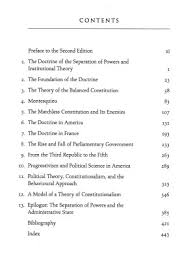 constitutionalism and the separation of powers nd ed online original table of contents or first page