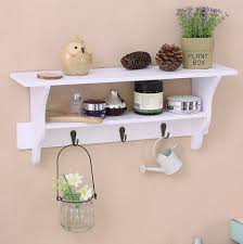 white floating wall mounted shelves