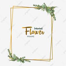 Card Frame Design Botanical Flowers Frame Design For Wedding Invitation Card