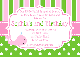 Personalised Birthday Invitations For Kids Printable Birthday Invitations Girls Whale Party
