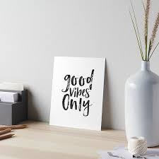 wall art for office. GOOD VIBES ONLY Sign, Office Wall Art,Office Quote,Quote Prints,Positive Art For F