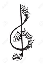 Treble Clef And Notes Royalty Free Cliparts Vectors And Stock
