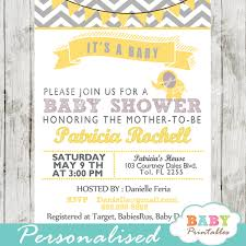 Yellow Elephant Baby Shower Invitation Card D104 Baby Printables