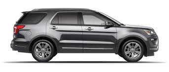 2019 ford explorer in magnetic side view