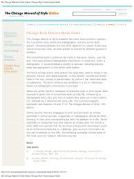 Chicago Style Citation Quick Guide Citation Bibliography