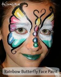 tutorial to create a beautiful rainbow erfly face paint atopserenityhill com birthdayparty