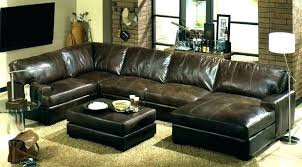 living leather sectional reversible and ottoman abbyson metropolitan furniture reviews
