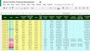 Spreadsheet Tracking The Best Free Stock Portfolio Tracking Spreadsheet