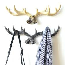 antler wall hooks retro creative northern elk antlers hook clothing wall wall hanging decoration coat