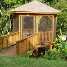 this gazebo was this grown up treehouse is the perfect place to enjoy the surroundings