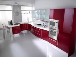 Red Kitchen Kitchen Astounding Dark Red Kitchen Cabinets Glamorous Dark Red