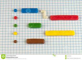 Gantt Chart Made Of Plasticine Stock Image Image Of