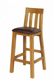 billy oak bar stool brown leather summer