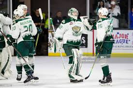 Everett Silvertips goaltender Dustin Wolf and forward Reece Vitelli... News  Photo - Getty Images
