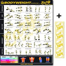 Buy Eazy How To Bodyweight Exercise Workout Poster Big 20 X