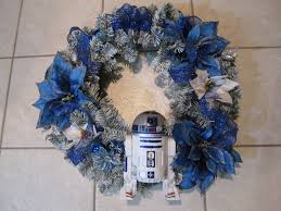 R2D2 Star Wars White and Blue Wreath by adingkaki on Etsy, $52.00