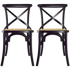 2xhome Set of 2 Modern Contemporary Antique Farmhouse Decor Cross Back Wooden Frame Dining Chairs Wood Accent With X Side Shop