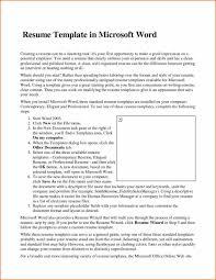 Standard Font For Resume Team Leader Resume Examples Federal