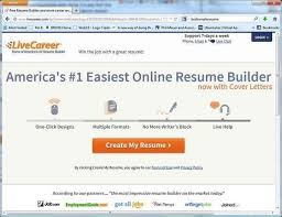 Build A High Quality Free Resume With Livecareer Coms Free Resume