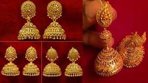Wedding Earrings Design Latest And Beautiful Gold Traditional Gold Indian Wedding Earrings Jhumka Designs