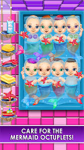mermaid salon make up doctor kids games free screenshot 5