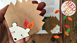 easy hedgehog bookmark autumn diys stationery easy paper crafts you