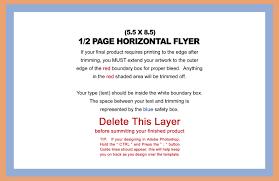 design templates 8 5x5 5 flyer horizontal