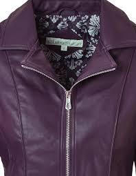 deep plum faux leather jacket deep plum hi res