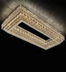 large rectangular gold and clear crystal chandelier large c21
