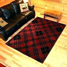 red plaid rug check black and white buffalo area outdoor 3x5