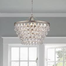 hampton bay lake point chrome and clear thumbnails peachy design 6 light crystal chandelier incredible ideas nereides wellyer