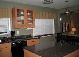 Brown Trim Paint Inspiring Kitchen Wall Trim Features Blue Wall Paint Color And