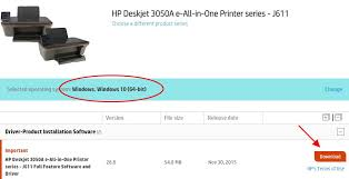 hp deskjet 3050a j611 then submit 3 check if the detected operating system is correct and
