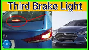 Hyundai Sonata 3rd Brake Light How To Change 3rd Third Center Brake Light Easy Hyundai Elantra 2017 2018