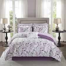 madison park essentials eden purple printed complete comforter and cotton sheet se