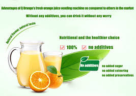 Automatic Juice Vending Machine Awesome Fully Intelligent Fresh Juice Vendor In Q Orange Internet And