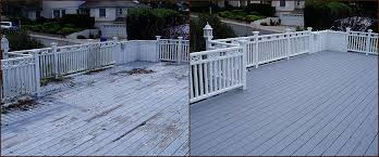 before and after deck paint job in maple
