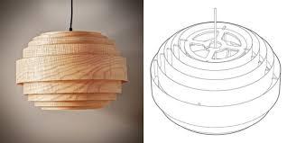 wood veneer lighting. Wood Veneer Boll Chandelier Pendant Lighting - Wood-lamps, Pendant-lighting T